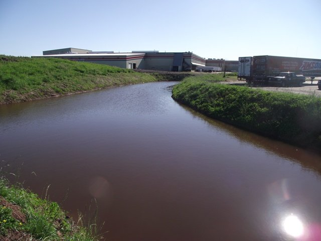 Amsoil sediment pond