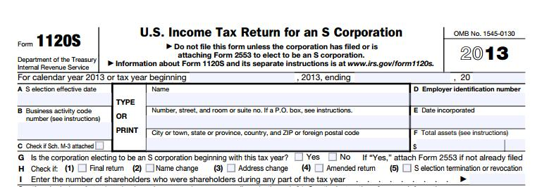 1120s Tax Form| Toms River, NJ | Robert L Pastine Public Accountant | 732-240-9090