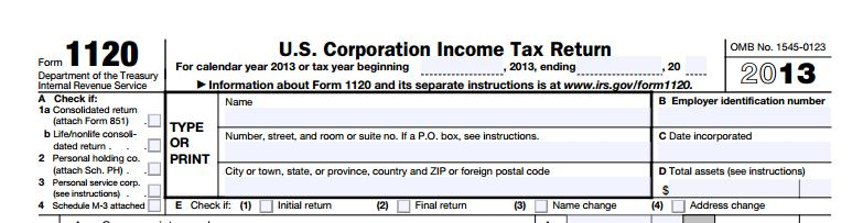 1120 Tax Form| Toms River, NJ | Robert L Pastine Public Accountant | 732-240-9090