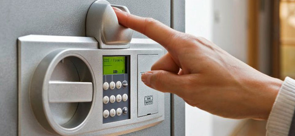 Burglar safe with Electronic Lock and Finger Scan Lock
