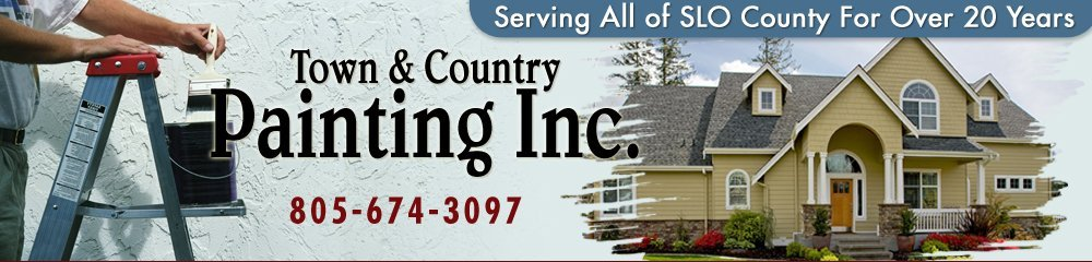 Painting Contractors - San Luis Obistp, CA - Town & Country Painting Inc.