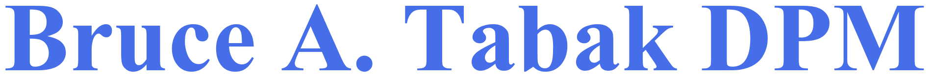 Bruce A. Tabak DPM - Logo