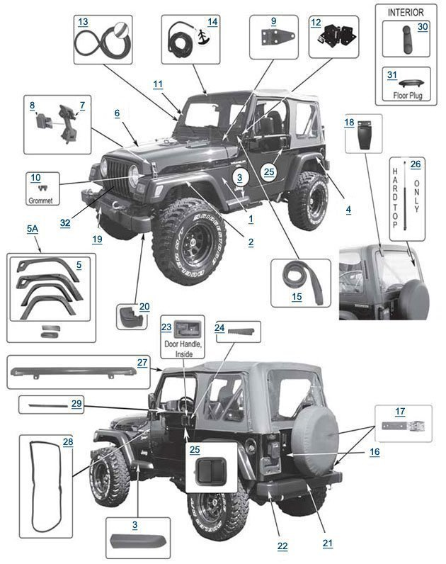 jeep cherokee quality used jeep parts dover, pa 1991 Jeep Parts Schematic Diagram Jeep Parts Schematic Diagram #21