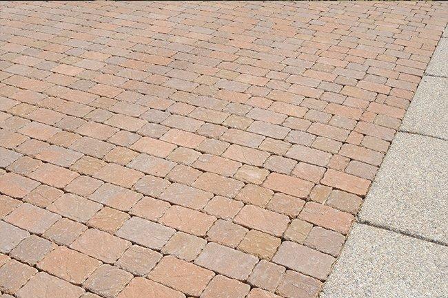 Red brick driveway