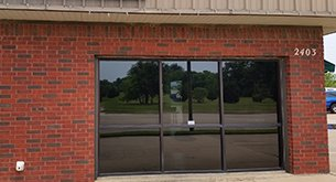 Commercial tinting window