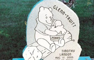 Winnie the pooh style of tombstone
