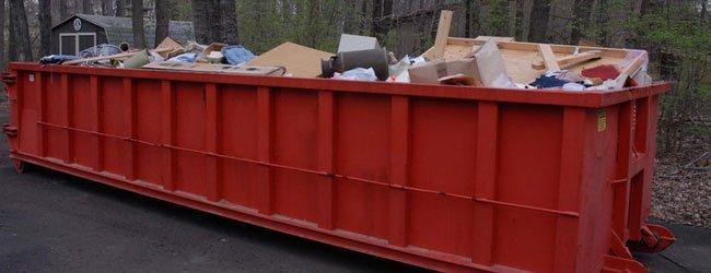 25-yard dumpster
