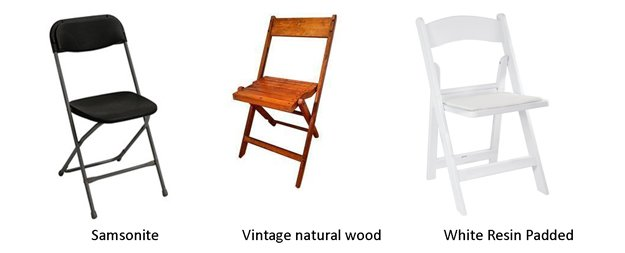 Chair and table rental
