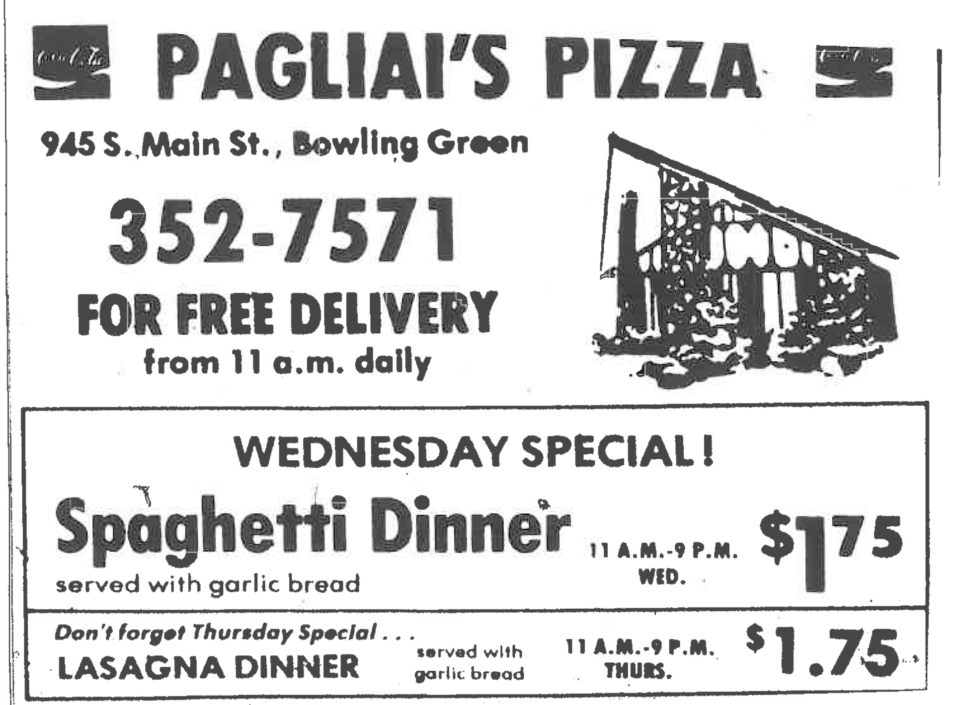 Pagliais Pizza Coupons And Specials Bowling Green Oh