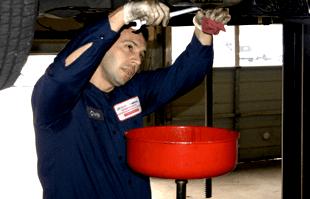 Car oil change process