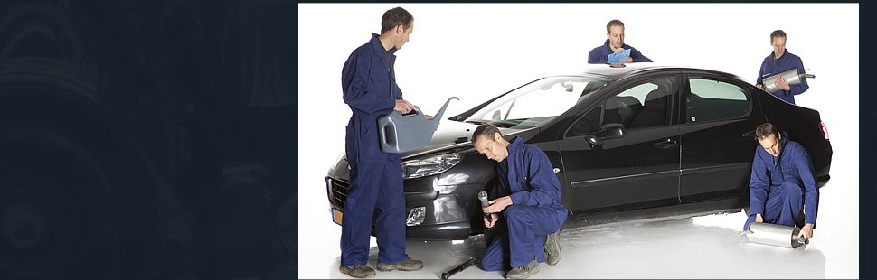 Men working on a car
