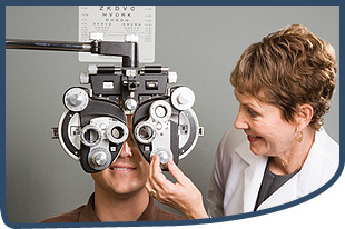 Optometrists and patient