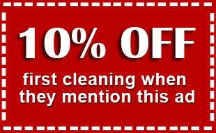 10% Off - first cleaning when they mention this ad