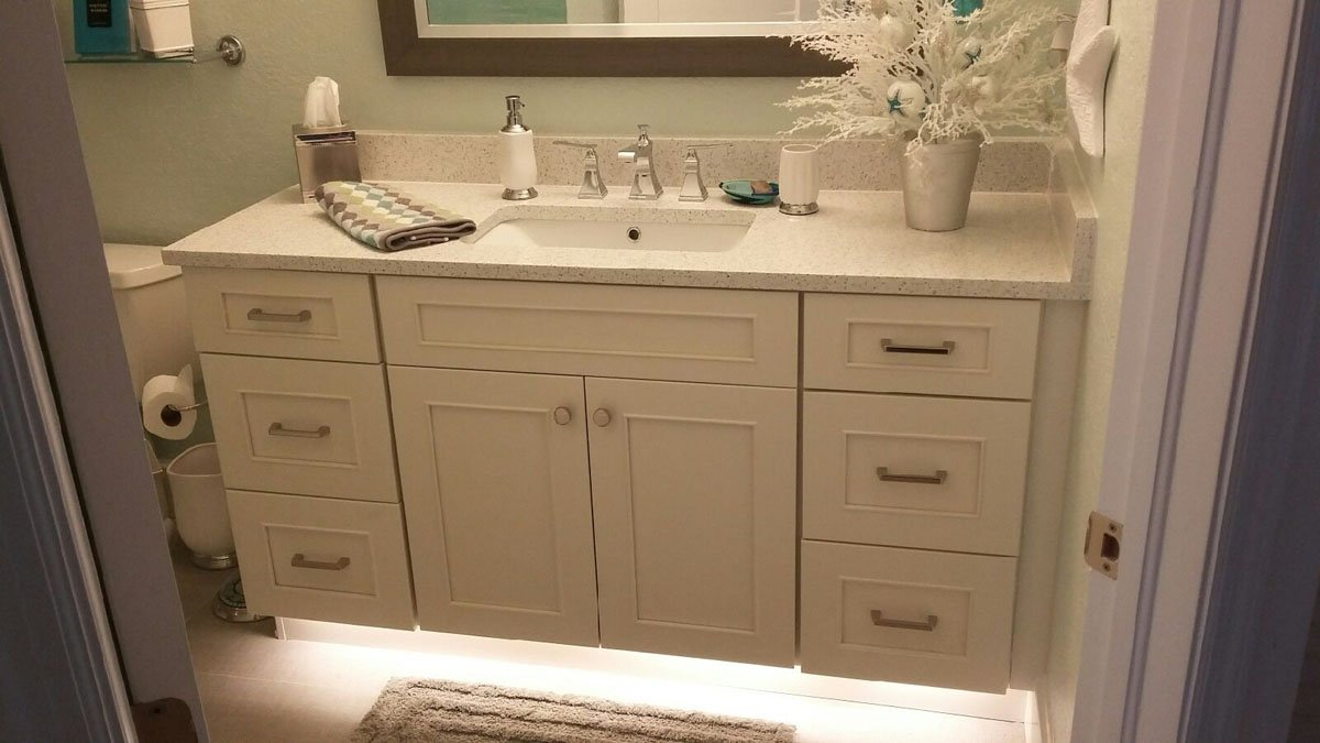 Gulf view cabinets kitchen bathroom clearwater fl for Bathroom vanities clearwater fl