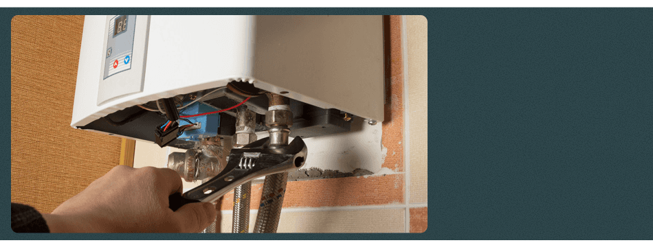 Repairing a damaged water heater unit