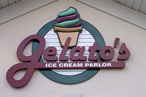 Gelato's Ice Cream Parlor sign