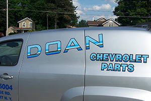 Doan Chevrolet Parts sign