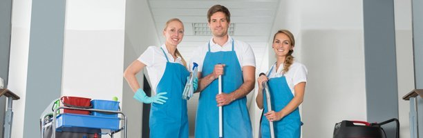 cleaners smiling