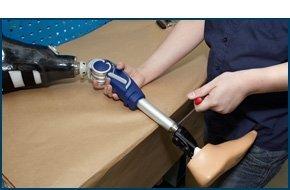 Making a prosthetic leg