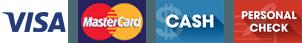 Visa | Mastercard | Cash | Personal Check