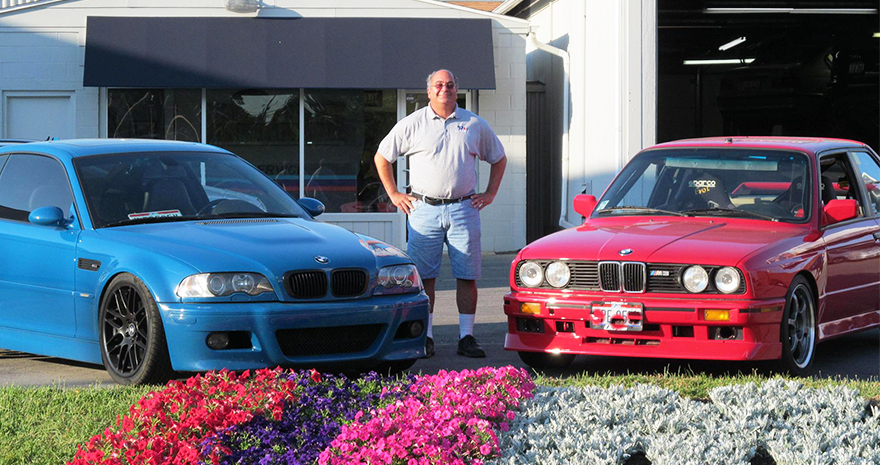 Tom with cars