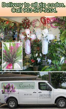 Floral Services - Tyler, TX - Country Florist And Gifts