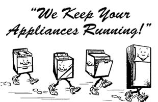 Running Appliances Cartoon