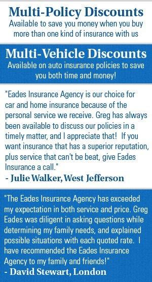 Auto Insurance Sales - London, OH - Eades Insurance Agency