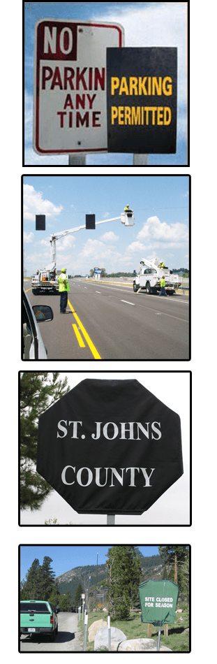 Traffic Sign and Signal Covers | Pacific Innovation Enterprises | 949-215-7747