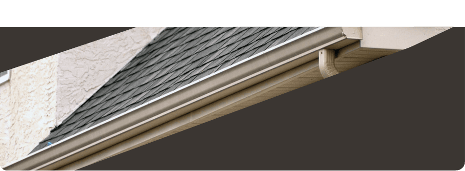 Newly installed roof gutter