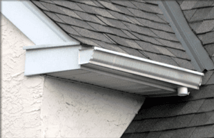 New white roof gutter
