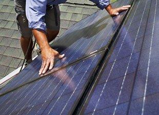 Installing solar roofing