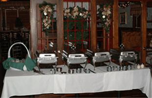 Colonial house restaurant buffet