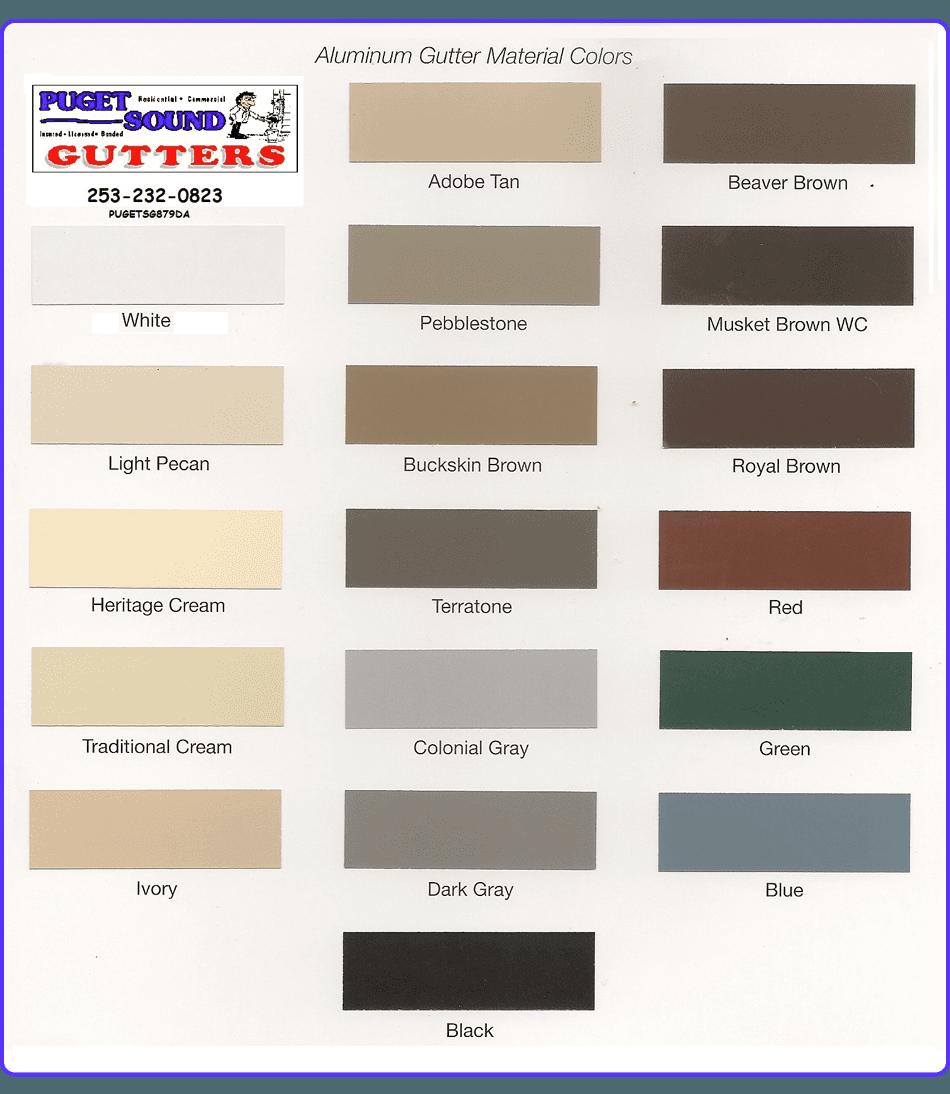 Gutter Color | Tacoma, WA | Puget Sound Gutters | 253-232-0823