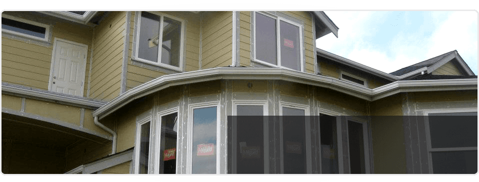 Installing gutter and windows