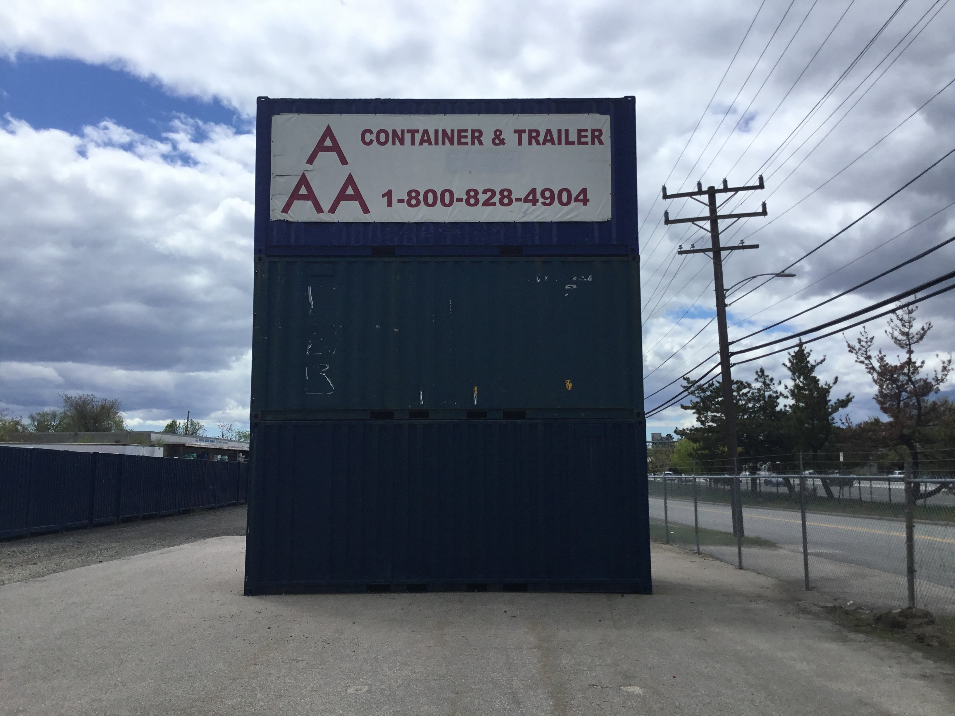 Mobile Container Trailer Sign
