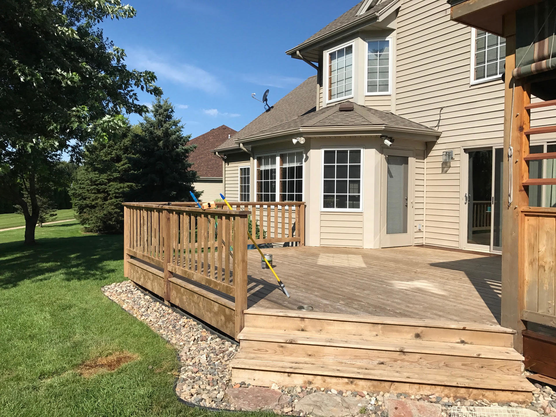 Finished Deck Refinishing Project In Rockford Il