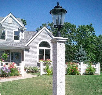 Rd fence company lamp posts north billerica ma granite lantern post mozeypictures Gallery