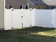 Homeland Privacy PVC fence with double drive gate