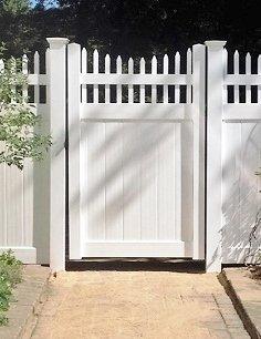 Homeland fencing scalloped Lancaster gate