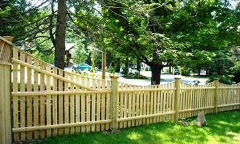 Spaced Scalloped Fence