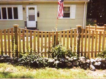 Spaced Scalloped Cedar Board Fence
