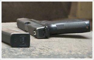 Gun on concrete