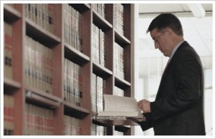 Lawyer in library