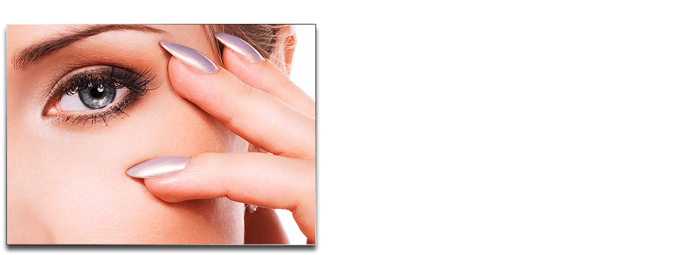 Lady model with pink fingernails