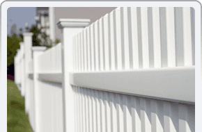 white wood fence