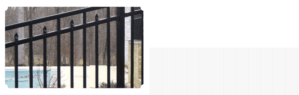 aligned white wooden fences