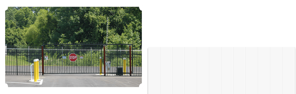 Commercial fences with bumper posts