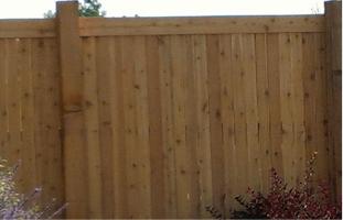 Dark brown wood fence