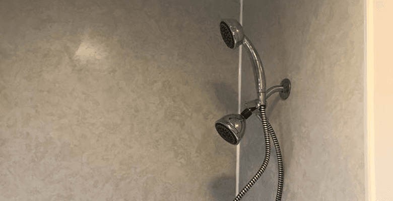Wall surround and shower